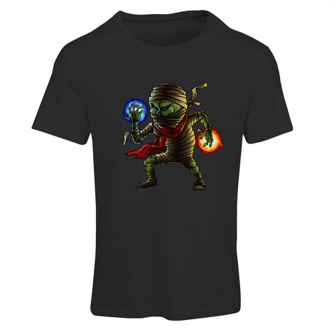 Ice & Fire Mummy Cartoon T-Shirt
