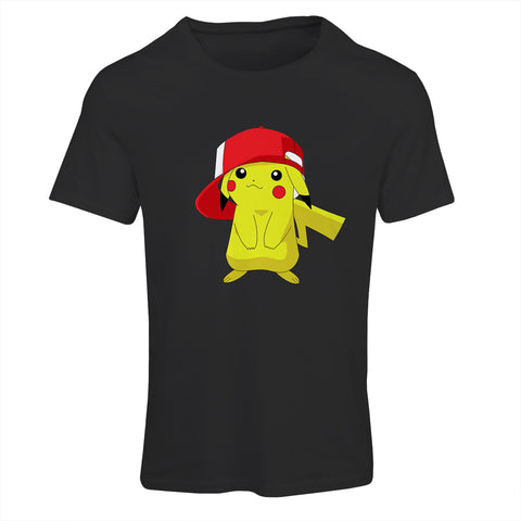 Pikachu Wearing Ash's Hat Pokemon T-Shirt