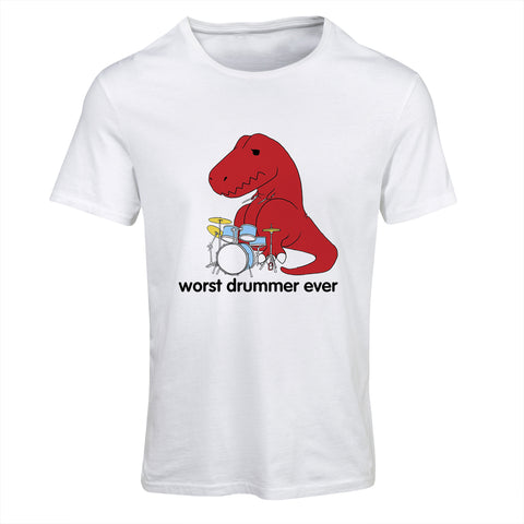 Worst Drummer Ever Funny T-Rex T-Shirt