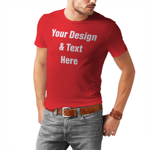 Men's Premium Crew Neck Custom T-Shirt