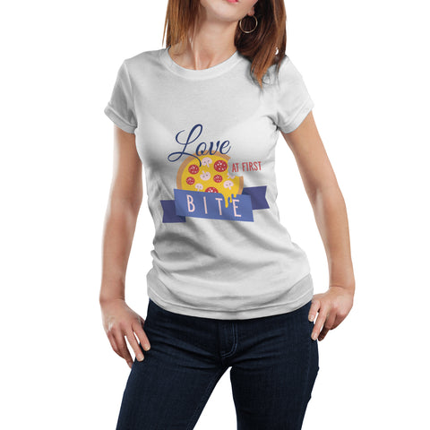 Love At First Pizza Bite | Funny T-Shirt