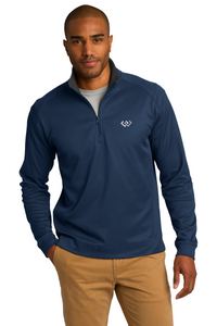 Port Authority® Vertical Texture 1/4-Zip Pullover Brand Logo