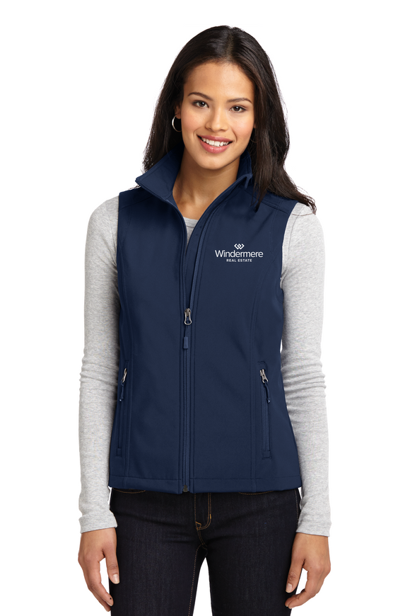 Port Authority® Ladies Core Soft Shell Vest BLUE