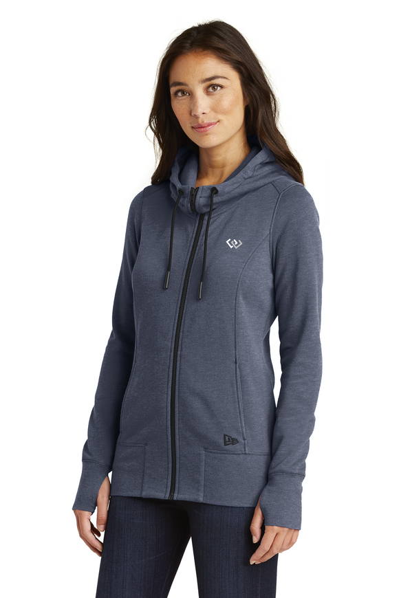 New Era® Ladies Tri-Blend Fleece Full-Zip Hoodie