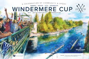 2019 Windermere Cup Poster: A Celebration of Community & Sport, by David O. Smith