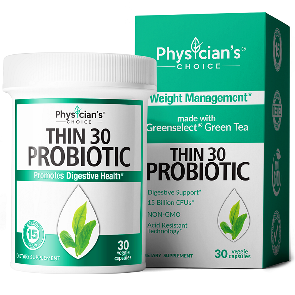 Thin30 Probiotic bottle with Greenselect Phytosome for weight loss