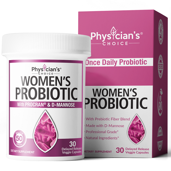 Women's Probiotic with D-mannose and ProCran cranberry extract for UTI support