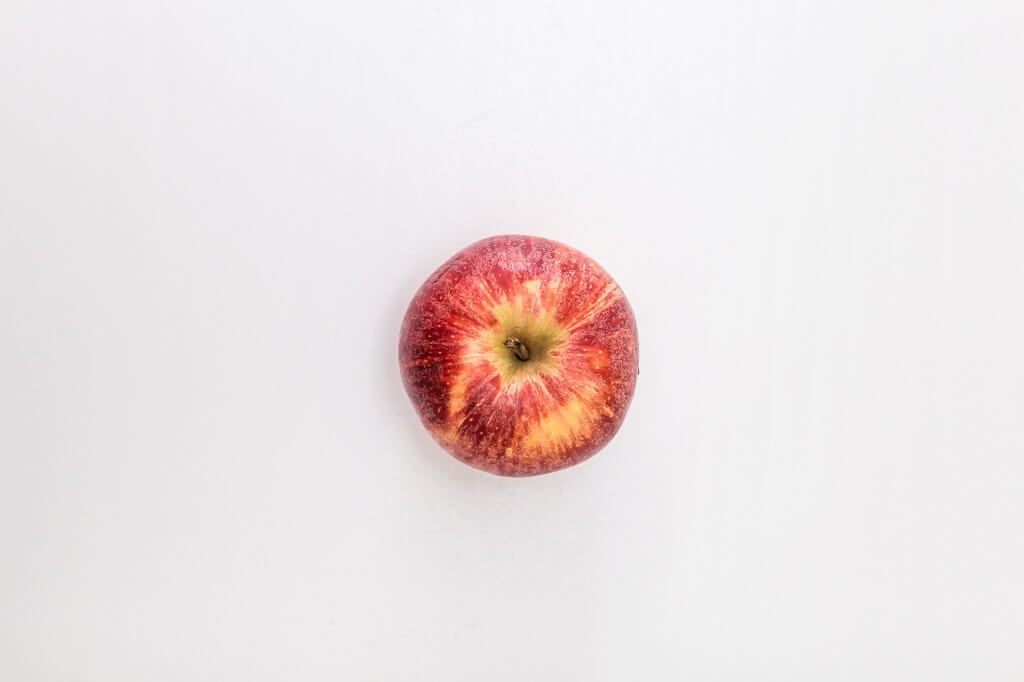 A red apple before it's turned into apple cider vinegar