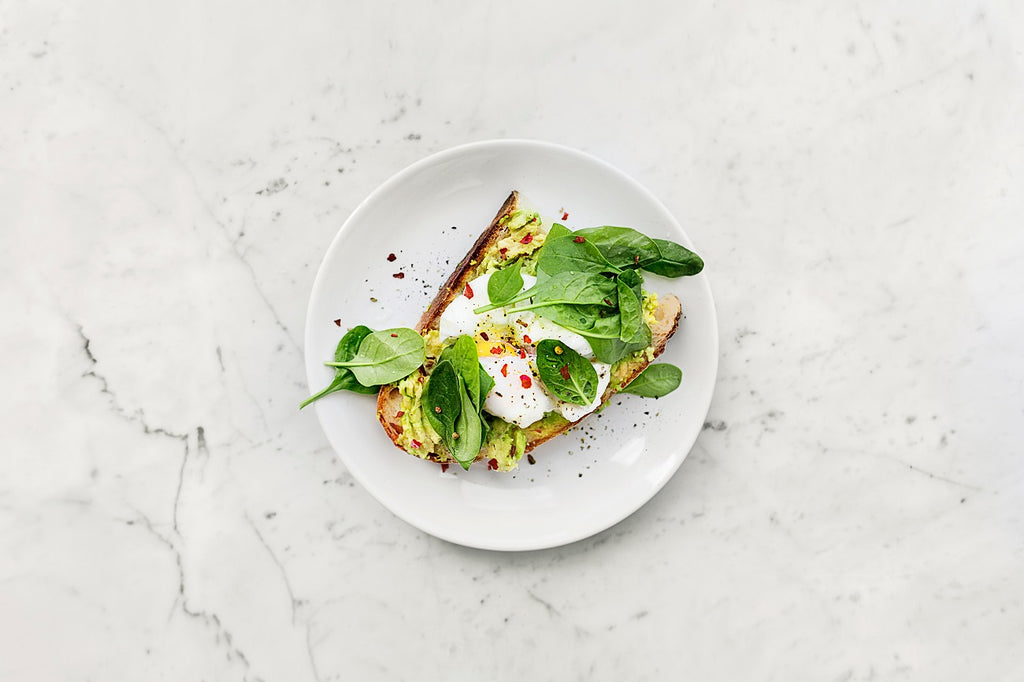 Avocado toast with an egg for protein and muscle recovery