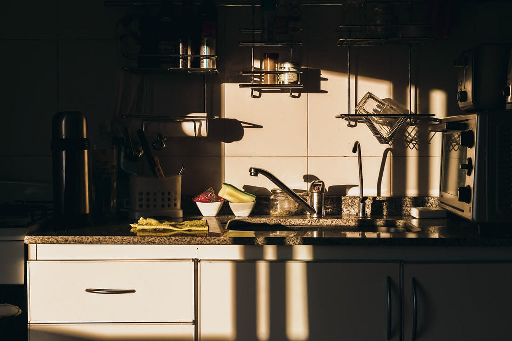 Sunlight coming into a kitchen