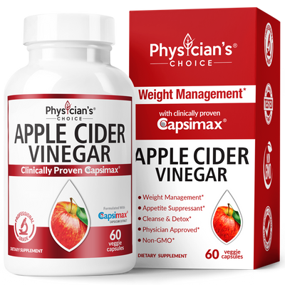 Physician's Choice Apple Cider Vinegar With Capsimax 60-count Bottle