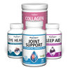 Healthy Adulthood Bundle with Joint Support, Eye Health, Sleep Aid, and Collagen Peptides