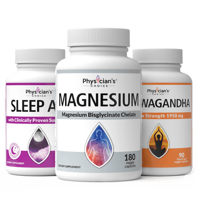 Better Mood and Improved Sleep Bundle featuring Sleep Aid, Magnesium, and Ashwagandha