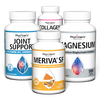 Bone and Joint Health Bundle featuring Joint Support, Meriva SF, Magnesium, and Collagen