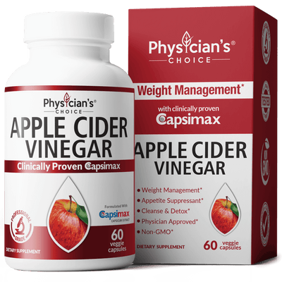 Physician's Choice Apple Cider Vinegar with Capsimax 60-count