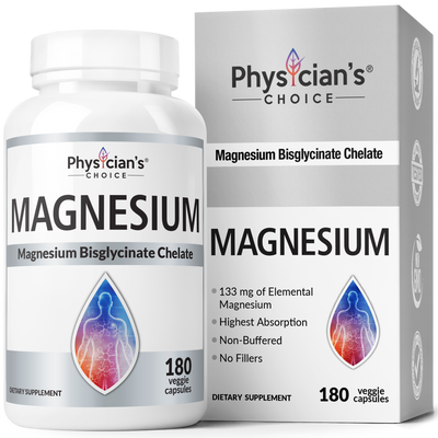 Physician's Choice Magnesium Bisglycinate Chelate 180-count bottle