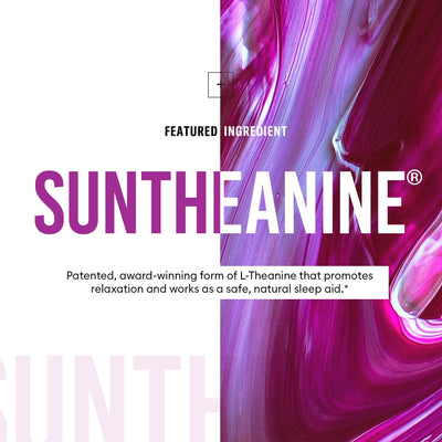 Suntheanine is a patented form of L-Theanine that promotes relaxation
