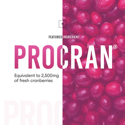 ProCran provides UTI support equivalent to 2,500 milligrams of fresh cranberries