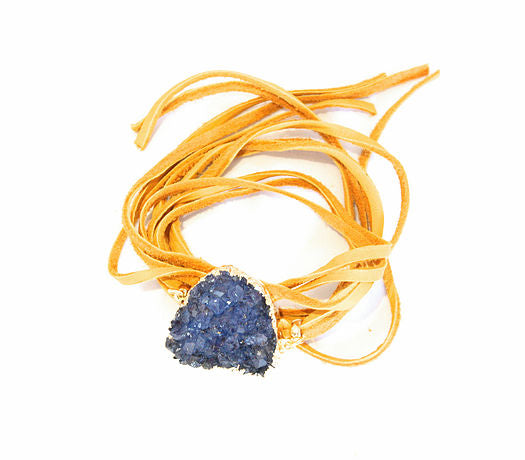 Triple Leather Druzy Wrap Bracelet - rockyourvnd