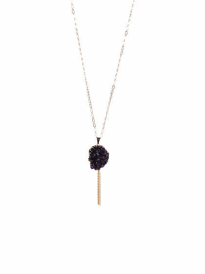 Druzy Tassle Necklace