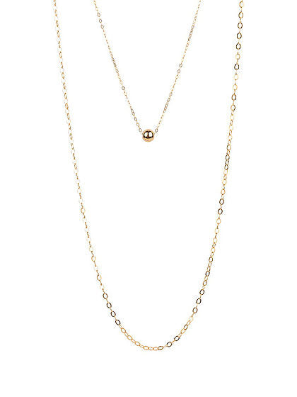 Alexa Double Gold Ball Necklace