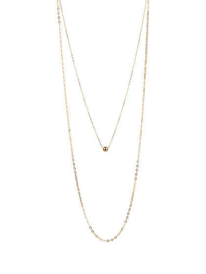 Alexa Double Gold Ball Necklace - rockyourvnd
