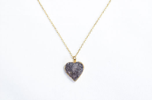 Heart Druzy Necklace - rockyourvnd