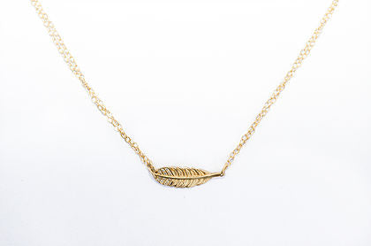 Sideways Feather Necklace