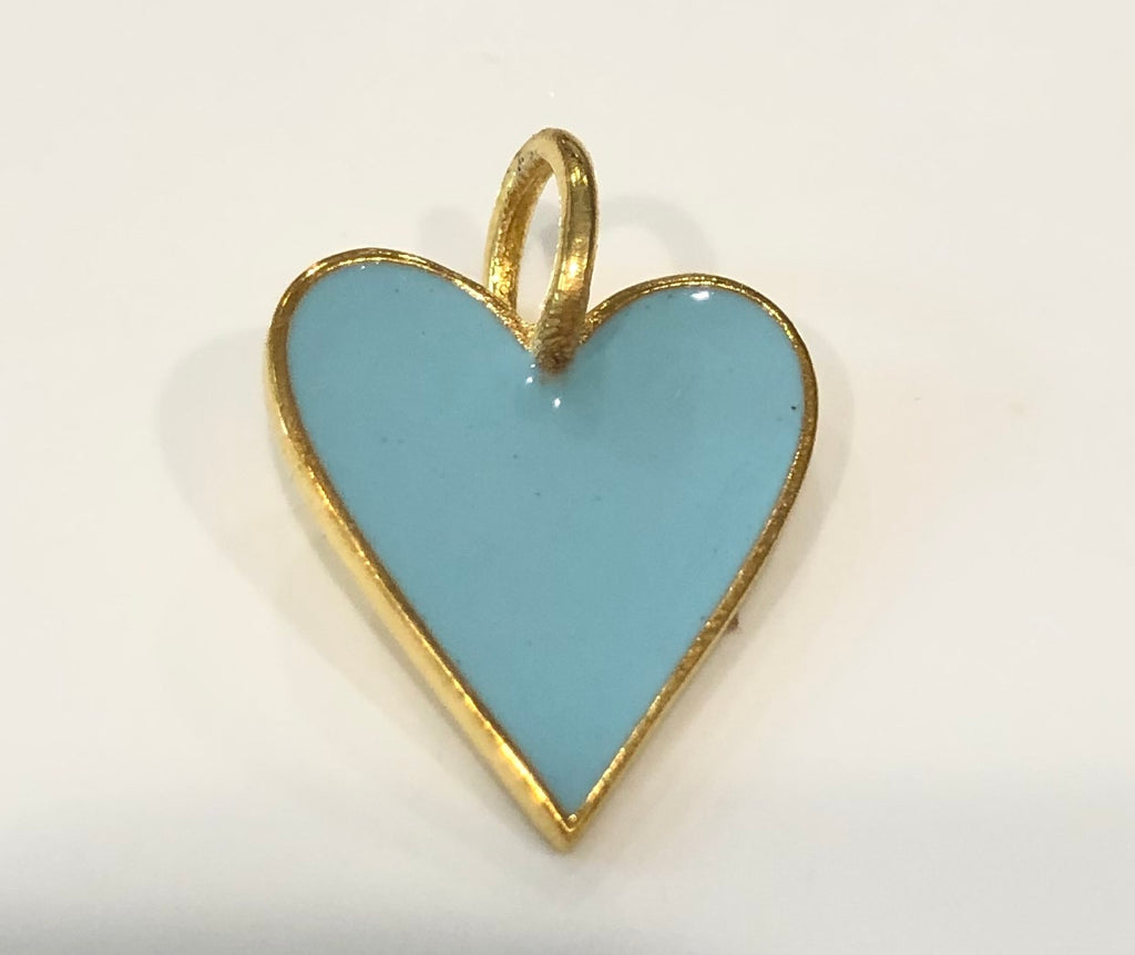 Enamel Heart Charms