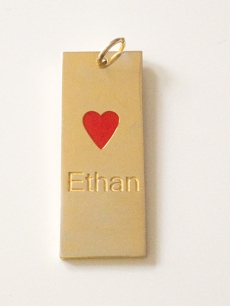 Personalized Enamel Charm with Heart - rockyourvnd