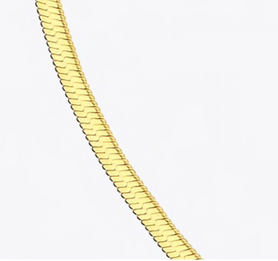 3mm, 5mm, 7mm  Herringbone Chain Necklace