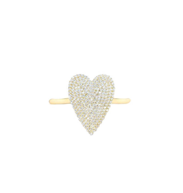 Small Pave Heart Ring
