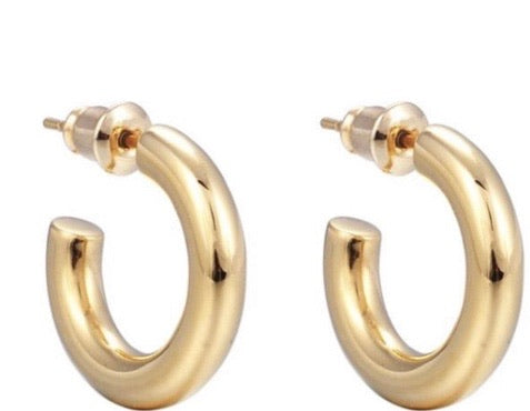 Demi small thick hoops - rockyourvnd