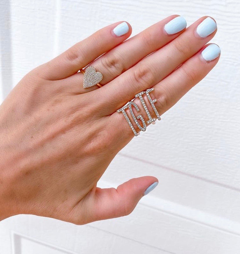 Stackable Letter Rings