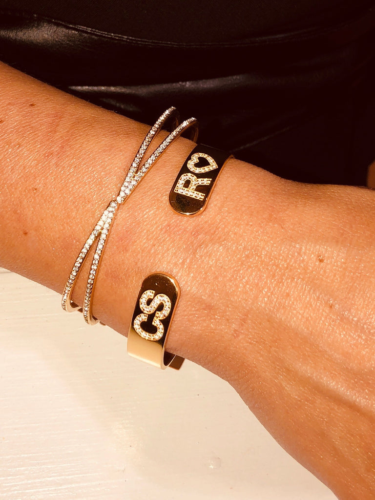 Personalized Reverse Letter Cuff - rockyourvnd