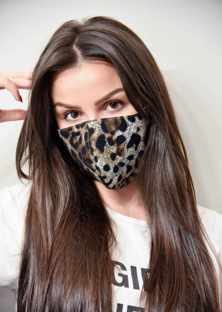 Brown Leopard Mask - rockyourvnd