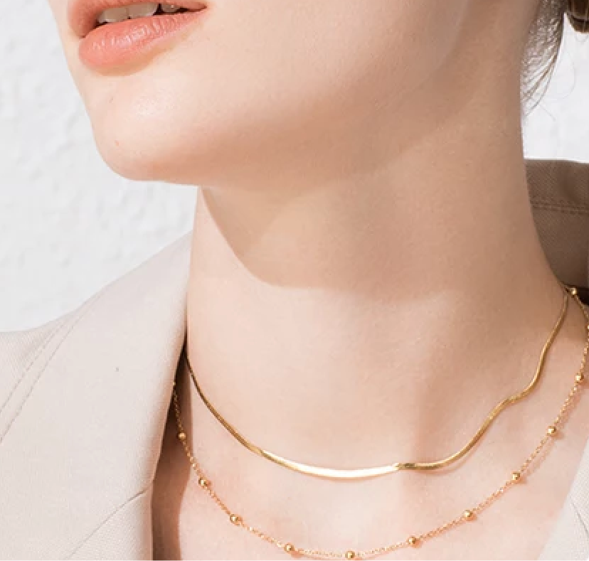 Dbl choker chain necklace