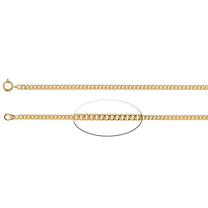 Gold Plated Diamond Cut Cuban Chain 3 mm. 24""