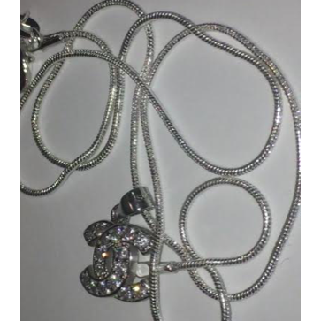 Pure Silver Iced Chanel Necklace - Dux LA