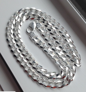 Sterling Silver Cuban Chain 9 mm. 24""