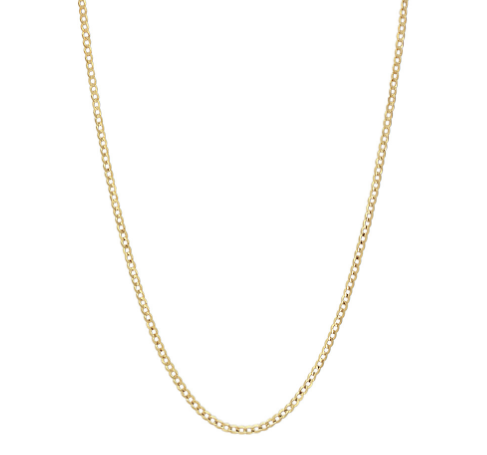 14k Yellow Gold Curb Chain 0.9 mm. 16""