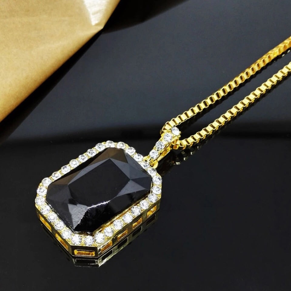 Iced Black Stone Chain - Dux LA