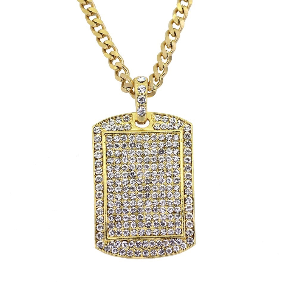 Iced Dog Tag Chain - Dux LA