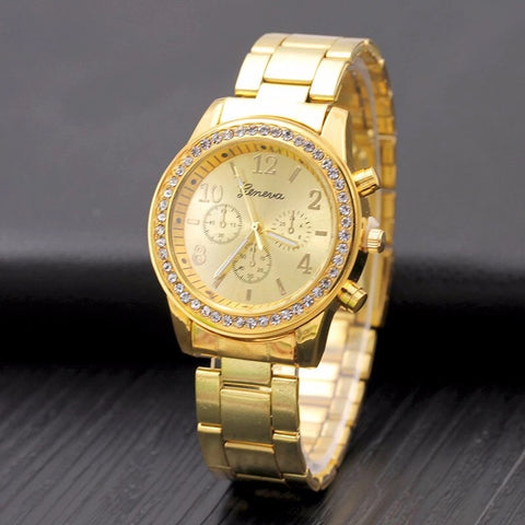 Iced Gold Watch - Dux LA