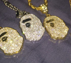 gold and silver bape chain