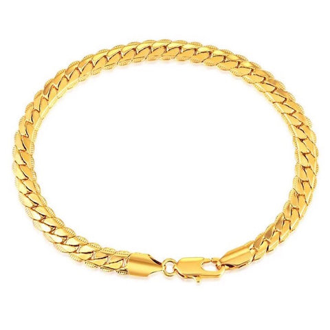 18k Gold Plated Cuban Bracelet - Dux LA