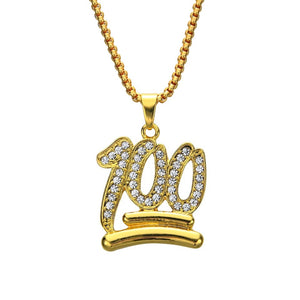 Gold Emoji Chain and Pendant for cheap