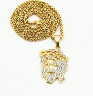 Jesus Piece Face Chain - Dux LA