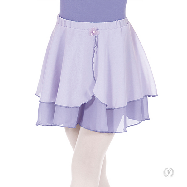 Child Two-Tier Chiffon Pull-On Skirt - Niña