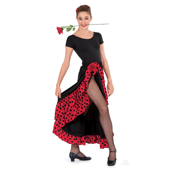 Polka Dot Flamenco Skirt - Adulto